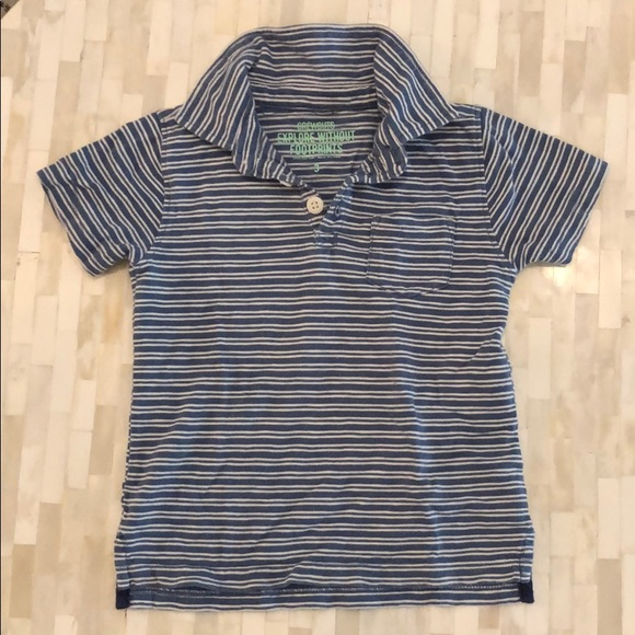 Crewcuts Other - J crew kids striped blue and white polo, size 3